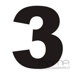 Numer na dom 3 czarny