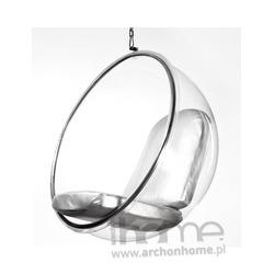 Fotel Bańka srebrny -  inspirowany Bubble Chair