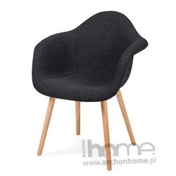 Krzesło PLUSH ciemny grafit