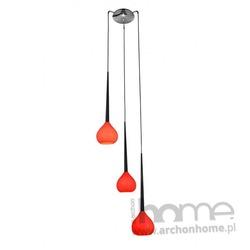 Lampa LIBRA 3 czerwona wisząca