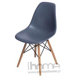 Krzesło Socrates dark grey drewniane nogi