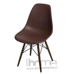 Krzesło Socrates brązowe drewniane nogi dark