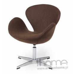 Fotel SWAN brązowy