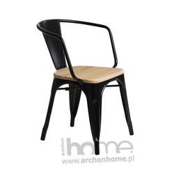 Krzesło Paris Arms Wood jasny zielony sosna
