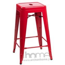 Hoker Paris czerwony - inspirowany Tolix