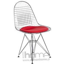 Krzesło NET czerwona poduszka