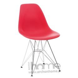 Krzesło Socrates czerwone chrom