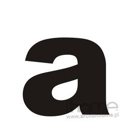 Litera na dom _a_ czarna