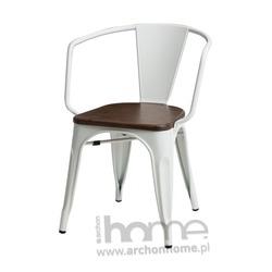 Krzesło Paris Arms Wood biały sosna
