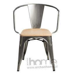 Krzesło Paris Arms Wood pomarańczowy sosna