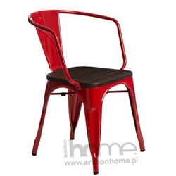 Krzesło Paris Arms Wood czerwony jesion