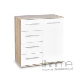 Komoda LIMA KM 2 biały/dąb sonoma