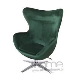 Fotel EGG Velvet ciemny zielony