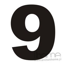 Numer na dom 9 czarny