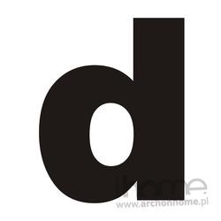 Litera na dom _d_ czarna