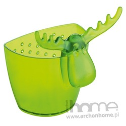 Zaparzaczka do herbaty zielona transparentna Rudolf