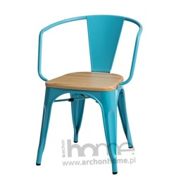 Krzesło Paris Arms Wood niebieski sosna naturalna
