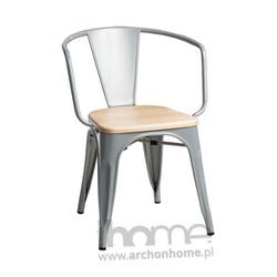 Krzesło Paris Arms Wood srebrny sosna naturalna