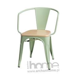 Krzesło Paris Arms Wood zielone sosna naturalna