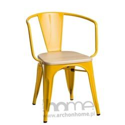 Krzesło Paris Arms Wood żółty sosna naturalna