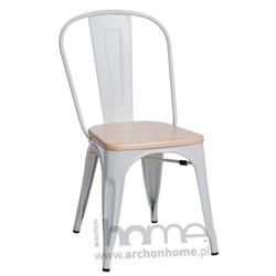 Krzesło Paris Wood biały sosna naturalna