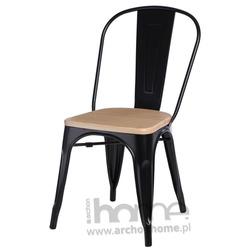 Krzesło Paris Wood czarny sosna naturalna