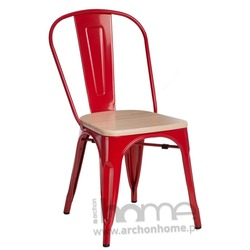 Krzesło Paris Wood czerwony sosna naturalna