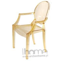 Krzesło Royal żółte transparentne - inspirowane Louis Ghost