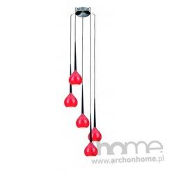 Lampa LIBRA 4 czerwona wisząca