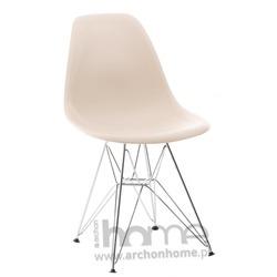 Krzesło Socrates beżowe chrom