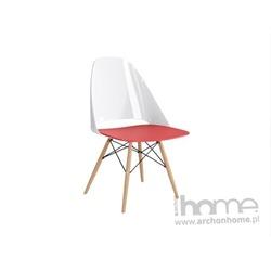 Krzesło Aero biało czerwone