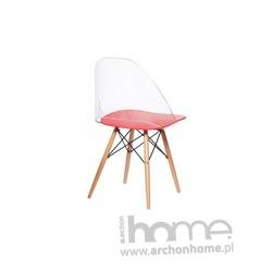 Krzesło Aero transparento czerwone
