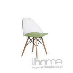Krzesło Aero transparento zielone