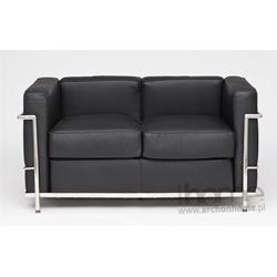 Sofa Kubik 2 czarna - inspirowana LC2