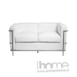Sofa Kubik 2 biała - inspirowana LC2