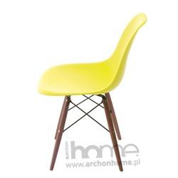 Krzesło Socrates oliwkowe drewniane nogi dark