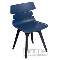 Krzesło Techno czarno niebieskie