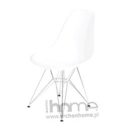 Krzesło Socrates białe chrom