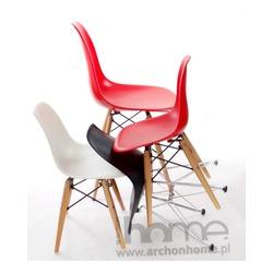 Krzesło dziecięce Socrates czarne drewniane nogi
