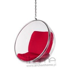 Fotel Bańka czerwony - inspirowany Bubble Chair