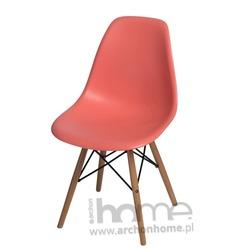 Krzesło Socrates dark peach drewniane nogi