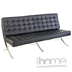 Sofa trzyosobowa BARCELONA czarna eko skóra - inspirowana BARCELONA