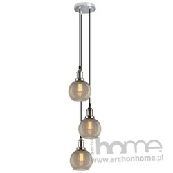 Lampa New York Loft 2 CO SCH smoky wisząca