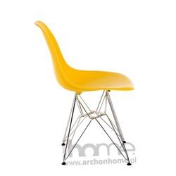 Krzesło Socrates żółte chrom