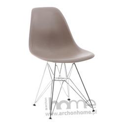 Krzesło Socrates szare,  chromowane nogi