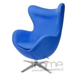 Fotel EGG szeroki niebieski