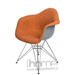 Krzesło EMAUS DUO pomarańczowo szare