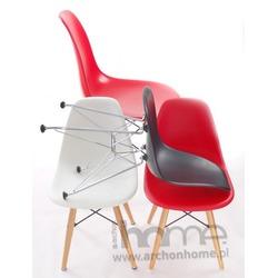 Krzesło dziecięce Socrates czerwone, drewniane nogi