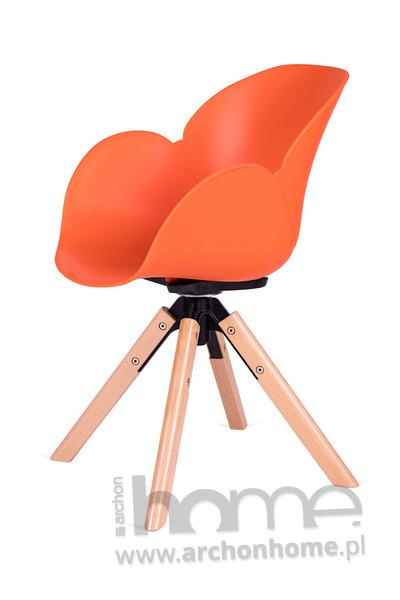 Fotel obrotowy FLOWER pomarańczowy