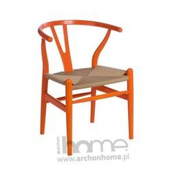 Krzesło Wicker color, pomarańczowe - inspirowane Wishbone